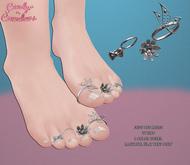 Candy Crunchers - Jode Toe Rings w/ HUD - Maitreya Flat Feet