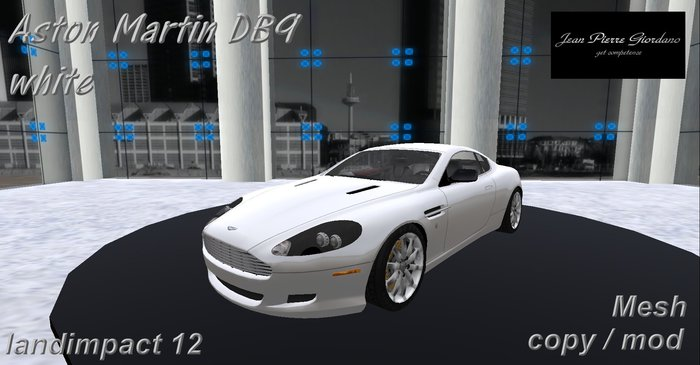 Second Life Marketplace Aston Martin Db9 White Mesh