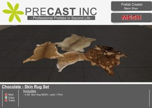 Chocolate - Skin Rug Set