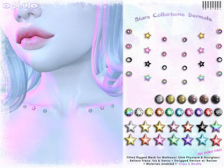 [ bubble ] Stars Collarbone Dermals