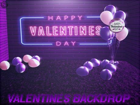 {RC}Valentines Backdrop Purple