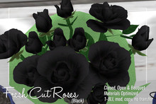 [ Organica ] Fresh Cut Roses (Black)