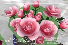 [ Organica ] Fresh Cut Roses (Pink)