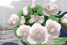 [ Organica ] Fresh Cut Roses (White)