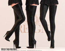 REIGN.- WITCHY THIGH HIGH BOOTS- FATPACK, MAITREYA, SLINK, BELLEZA, HOURGLASS, FREYA, THIGH HIGH BOOTS
