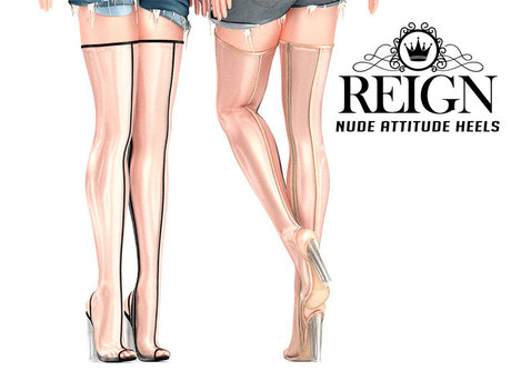 REIGN.- NUDE ATTITUDE HEELS- DEMO PACK