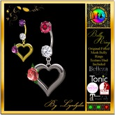 Rose Heart Fitted Belly Ring