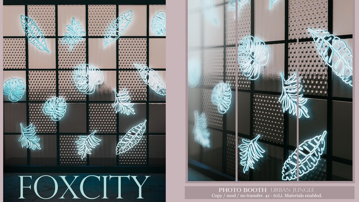 FOXCITY. Photo Booth - Urban Jungle (Boxed HUD. Wear me)