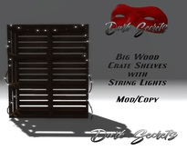 Dark Secrets - Big Wood Crate Shelves with String Lights
