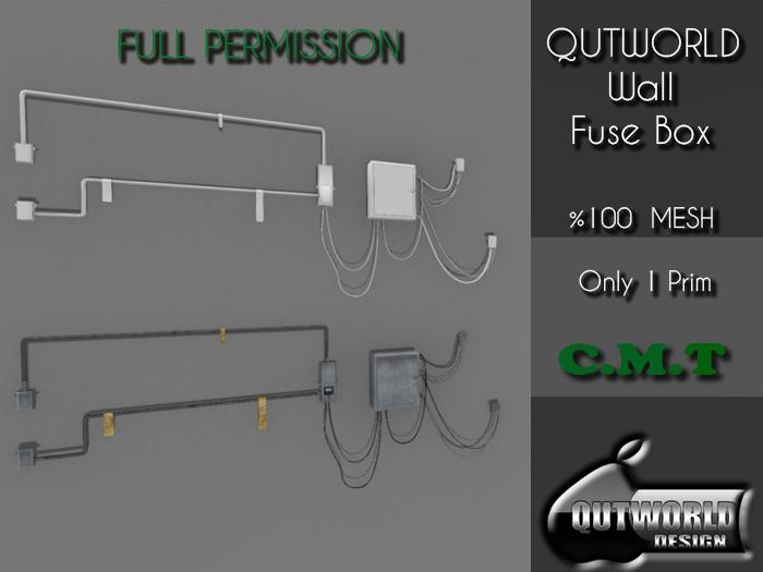 second life marketplace - .::qutworld wall fuse box::.fp_unpack  second life marketplace