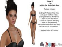 Shape 27  for May Lelutka Bento Mesh Head