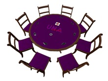 UNA Deluxe Card Game Table - Similar to UNO - Brock card games