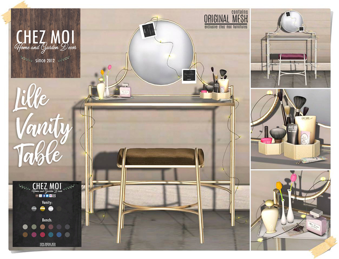 Lille Vanity Table ♥ CHEZ MOI