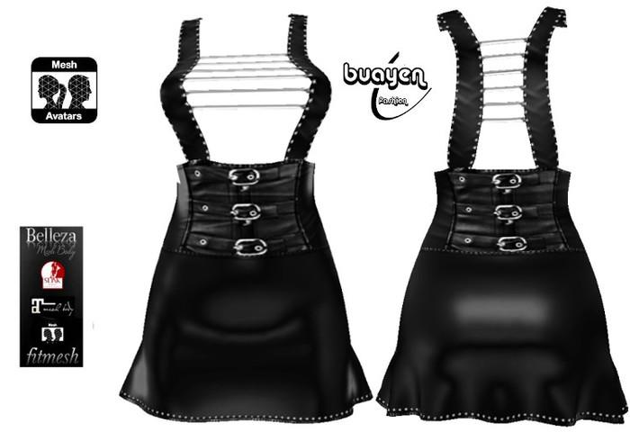 Thaib Adele Fitmesh Leather Mini 1 Maitreya Slink Belleza