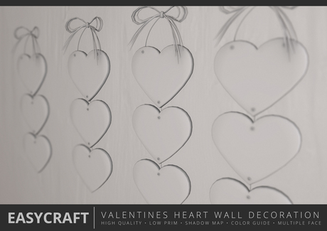 EastCraft - Full Perm Hearts Day Wall Decor