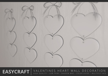 EasyCraft - Full Perm Valentines Hearts Day Wall Decoration Builder Kit | Shadow Map | Low Prim | Cute Design