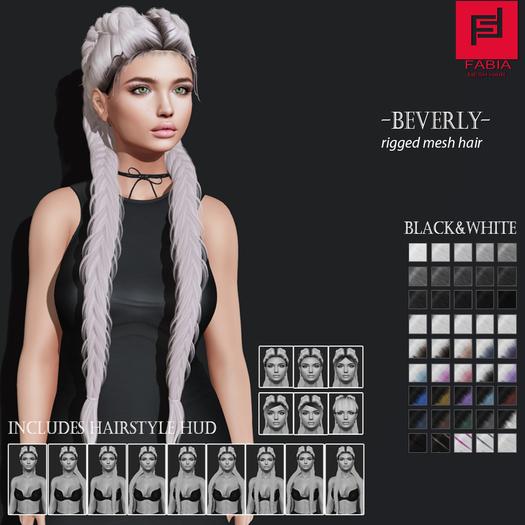-FABIA- Mesh Hair   <Beverly> Black&White
