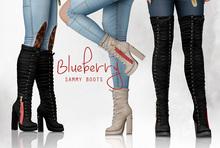 Blueberry - Sammy Boots - Maitreya/Belleza/Slink - Fat Pack