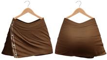 Blueberry - Girls Night - Split Skirt - Tan