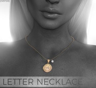 #EMPIRE - Letter Necklace - Gold - Q *Maitreya*