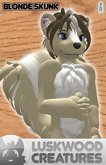 Luskwood Blonde Skunk Furry Avatar - Male