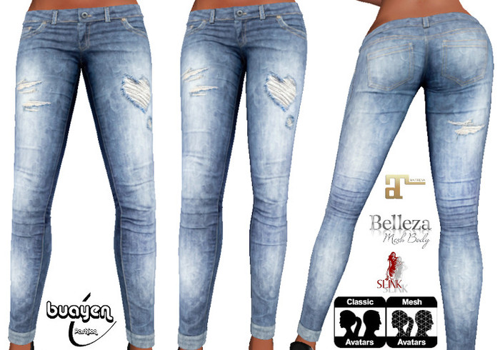 ThaiB Skinny Love Jeans Maitreya Slink Belleza 5 SIZES CLASSIC