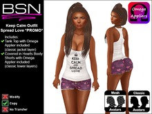 BSN Keep Calm Outfit - Spread Love *PROMO*