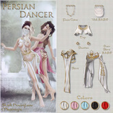 Belle Epoque { Persian Dancer } Top White M (Box)