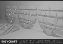 EasyCraft - Heart With LED String Lights Decor Kit