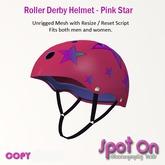 Spot On Roller Derby Helmet - Pink Star