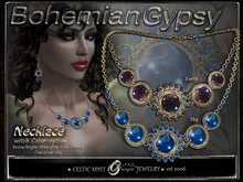 Bohemian-Gypsy Necklace with Earth / Sky Stone Color