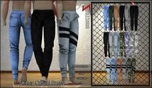 [BrunStyle] Skinny Casual Pants  - Black Jeans