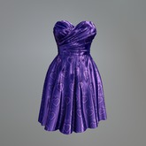 Violet Satin Heart Mesh Dress
