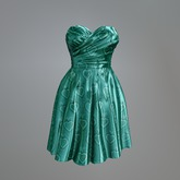 Mint Satin Heart Mesh Dress