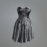 Silver Satin Heart Mesh Dress