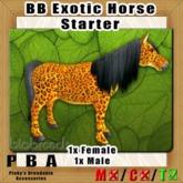 BB Exotic Horse Pair Starter