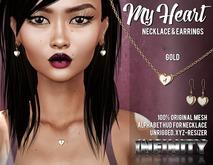 !NFINITY My Heart Jewelry Set Gold (add/wear) VALENTINE