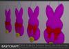 Easycraft big ribbon bunny wall decoration colorguide