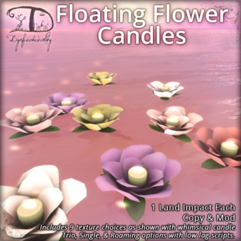 [DDD] Floating Flower Candles - Realistic Roaming Texture Change Lighting