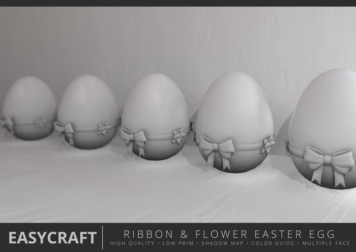 EasyCraft - Full Perm Easter Egg Ribbon & Flower Decor kit