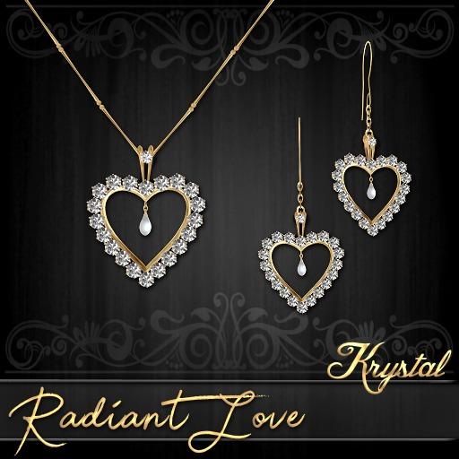 ::: Krystal ::: Radiant Love - Jewelry Set - Gold - Diamond