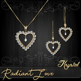 ::: Krystal ::: Radiant Love - Jewelry Set - Gold - Diamond