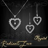 ::: Krystal ::: Radiant Love - Jewelry Set - Platinum - Diamond