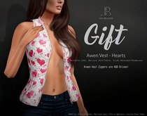 *Just BECAUSE* FREE Gift! - Arwen Vest (Hearts) - Maitreya, Belleza, Slink