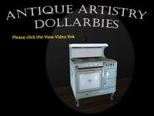ANTIQUE KITCHEN Edwardian wood stove - wedgewood blue