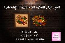 {.Gross Princess.} Plentiful Harvest Wall Art Set