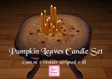 {.Gross Princess.} Pumpkin Leaves Candle Set