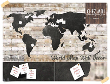 World Map Wall Decor ♥ CHEZ MOI