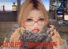 [GGL]Glasses -pink[Gift]
