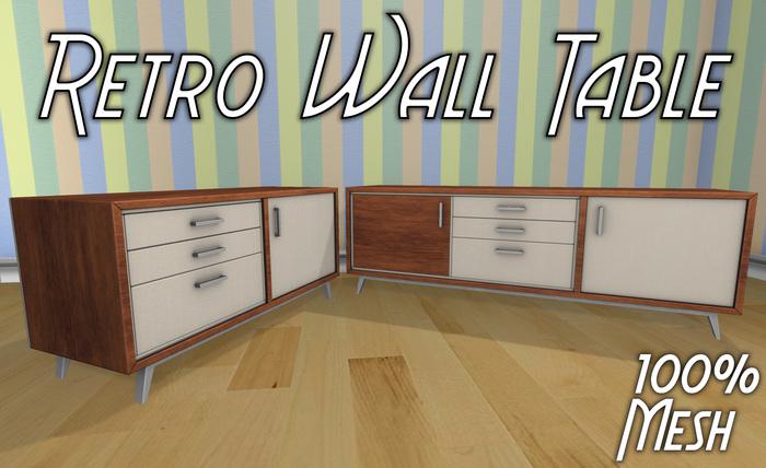 Retro Wall Table